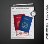 visa stamping.  travel  visa...   Shutterstock .eps vector #536792032