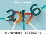 happy new year 2017 creative...   Shutterstock .eps vector #536802748