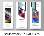 roll up banner stands  flat...   Shutterstock .eps vector #536806576