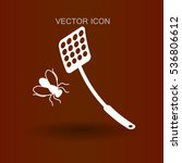 Fly Swatter Icon Vector...