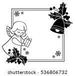 black and white rouen christmas ... | Shutterstock .eps vector #536806732