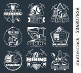 professional mining emblems set ... | Shutterstock .eps vector #536807836