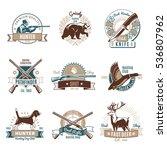 set of nine isolated hunting... | Shutterstock .eps vector #536807962
