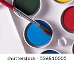 water colour paints with brush... | Shutterstock . vector #536810005