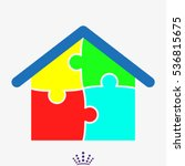 house  puzzle  icon  vector... | Shutterstock .eps vector #536815675