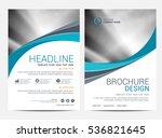 brochure template flyer... | Shutterstock .eps vector #536821645