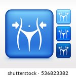 sexy waist colorful square... | Shutterstock .eps vector #536823382