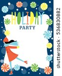 holiday party invitation with... | Shutterstock .eps vector #536830882