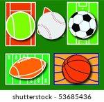 sport requisites. sport balls... | Shutterstock .eps vector #53685436