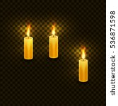 Candles With Flame For Birthda...