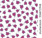 doodles cute seamless pattern.... | Shutterstock .eps vector #536872948