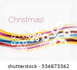 wave line with snowflakes.... | Shutterstock . vector #536873362