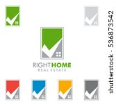 real estate vector logo design... | Shutterstock .eps vector #536873542