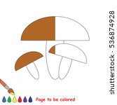 brown mushroom to be colored ... | Shutterstock .eps vector #536874928