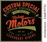vintage biker graphics and... | Shutterstock .eps vector #536879752