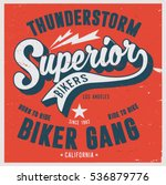 vintage biker graphics and... | Shutterstock .eps vector #536879776