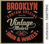 vintage biker graphics and... | Shutterstock .eps vector #536879842