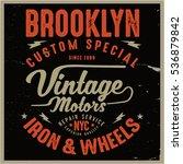 vintage biker graphics and... | Shutterstock .eps vector #536879842