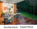 Wooden Deck   Balcony At Night...