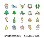 christmas symbols  objects and... | Shutterstock .eps vector #536883436