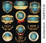 luxury golden retro labels... | Shutterstock .eps vector #536892118