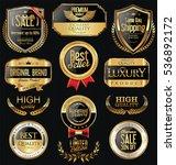 luxury golden retro labels... | Shutterstock .eps vector #536892172