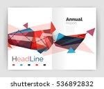 business triangle design modern ... | Shutterstock . vector #536892832