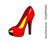 women's shoe. high heel. red... | Shutterstock .eps vector #536895082