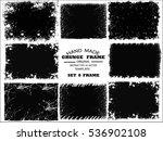 grunge frame set. vector...   Shutterstock .eps vector #536902108