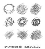 abstract chaotic round sketch.... | Shutterstock .eps vector #536902132