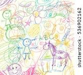 children doodle. colored... | Shutterstock .eps vector #536902162