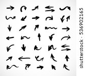 hand drawn arrows  vector set | Shutterstock .eps vector #536902165
