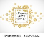 elegant happy new year... | Shutterstock .eps vector #536904232