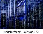 blade storage supercomputer of... | Shutterstock . vector #536905072