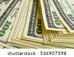 a lot of one hundred of dollar... | Shutterstock . vector #536907598