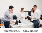 business people working in... | Shutterstock . vector #536910082