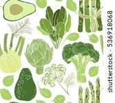 green vegetables. seamless... | Shutterstock .eps vector #536918068