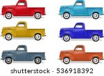 Isolated Truck Illustration Set