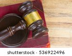 wooden law gavel and legal