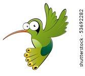 funny cartoon hummingbird | Shutterstock .eps vector #53692282