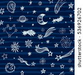 seamless pattern with stars ... | Shutterstock .eps vector #536926702