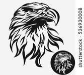eagle head logo template  hawk... | Shutterstock .eps vector #536930008