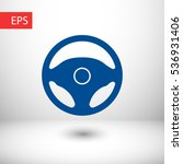 steering wheel icon. one of set ... | Shutterstock .eps vector #536931406
