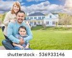 happy mixed race hispanic and... | Shutterstock . vector #536933146