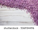 wooden background with lilac... | Shutterstock . vector #536934496
