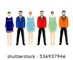 group of people on a white... | Shutterstock .eps vector #536937946