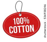 100  cotton red leather label... | Shutterstock .eps vector #536938246