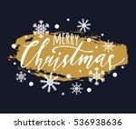 vector merry christmas... | Shutterstock .eps vector #536938636