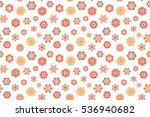 hand drawn abstract snowflakes... | Shutterstock . vector #536940682