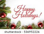 christmas decoration background ... | Shutterstock . vector #536952226
